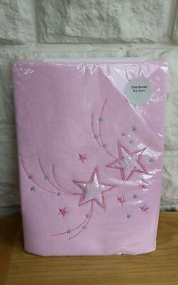 Brand New, Clair De Lune Stardust Pram/crib/moses Basket Baby Blanket