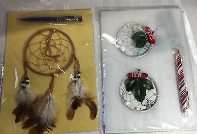 3-Traditional Dream Catcher with Feathers Wall Tree or Car Hanging Ornaments