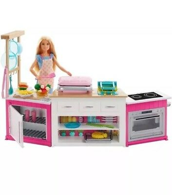 🙃 Barbie 3 Three Story Town Doll House Play Set With Furniture and Accessories