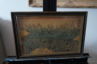 Antique Japanese woodblock print. Probable Hiroshige  (1797-1858)