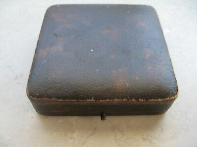 Antique/Older Vintage Leather Earrings Presentation Box From MEXICO