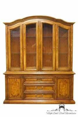 """STANLEY FURNITURE Italian Provincial 66"""" Lighted Fruitwood China Cabinet 8311-04"""