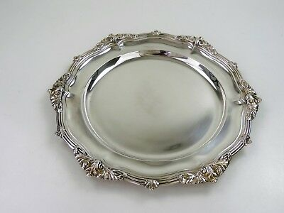 Superb Victorian SILVER DINNER PLATE, London 1881 HUNT & ROSKELL 600g Storr Tray
