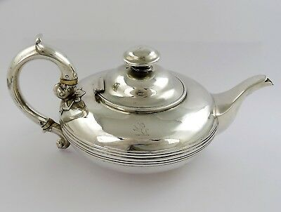 Lovely BACHELOR size SILVER ALADDIN'S LAMP TEAPOT, London 1839 Savory 507g
