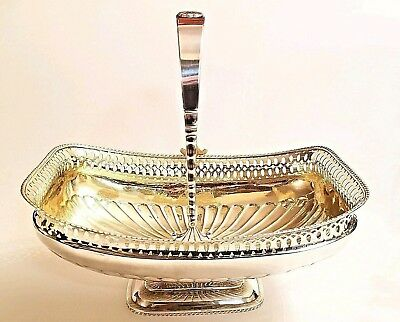 Superb Large Early 19C Russian Silver Gilt Basket St. Petersburg  706 gm