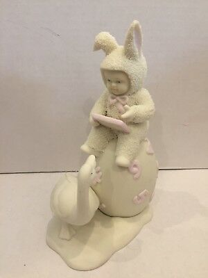 Adorable 1997 Dept 56 Snowbabies Counting The Days Till Easter