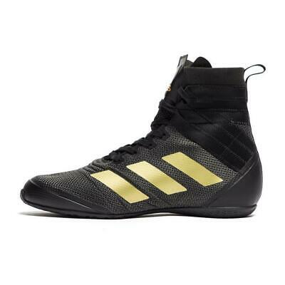 Adidas Speedex 18 Boxing Boots Mens Black / Gold Sports Shoes Trainers