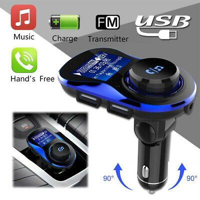 Bluetooth Handsfree Touch Tone FM Transmitter MP3 Player USB Charger Car Kit lot