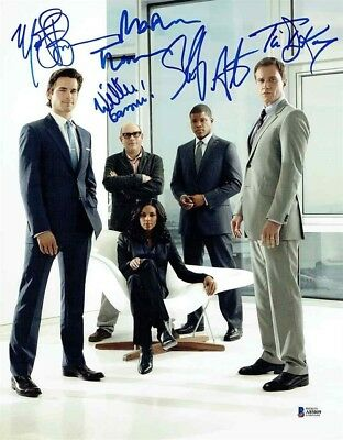 White Collar Cast by 5 Autographed Signed 11x14 Photo Certified Beckett BAS COA