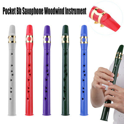 Mini Portable Pocket Bb Alto Saxophone Sax Woodwind Instrument w/ Carrying Bag