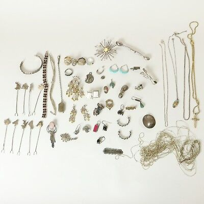 Lot 925 Sterling Silver Some Scrap Some Not 299.25g - Jewelry+