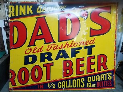 Antique Dads Root Beer Sign