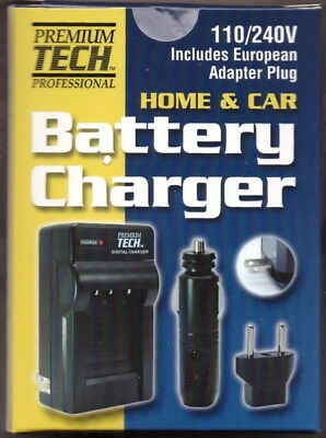 Premium Tech Professional NB-11L Home Car Battery Charger PT-75 for Canon Camera