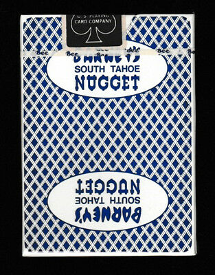 - SEALED - BARNEY'S & SOUTH TAHOE NUGGET blue Casino cards with combined LOGOS