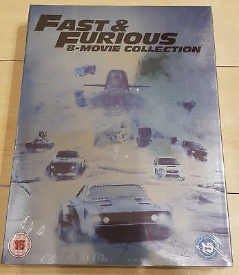 Fast And Furious 1-8 Complete Movie Collection Dvd Box Set New Sealed Bargain***
