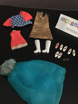 Vtg Topper Dawn Doll TLC Clothing & Mismatched Shoes Boots Lot For Repair