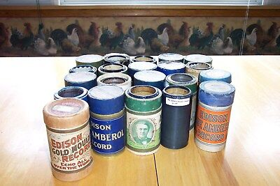 Edison Music Cylinders Lot Of 21