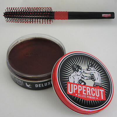 UPPERCUT DELUXE Water Based Strong Pomade 3.5 OZ 100g Plus Quiff Roller Comb NEW