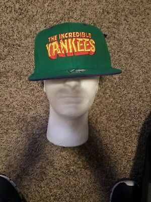 reputable site 1cc37 a9d02 American Needle New York Yankees Incredible Hulk Rare Hat Cap Fitted Size 7  1 8