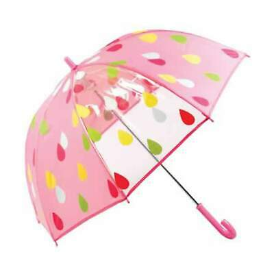 Shelta Classic Childrens Kids Birdcage Raindrops Pink Umbrella