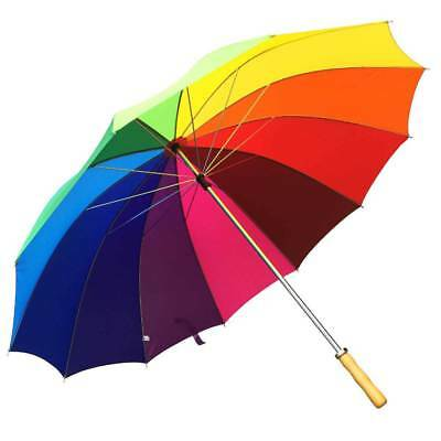 Willow Tree Large 12 Rib Manual Rainbow Golf Umbrella