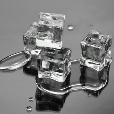 15x Reusable Acrylic Ice Cube Fake Artificial Crystal 2.5cm Square Display Props