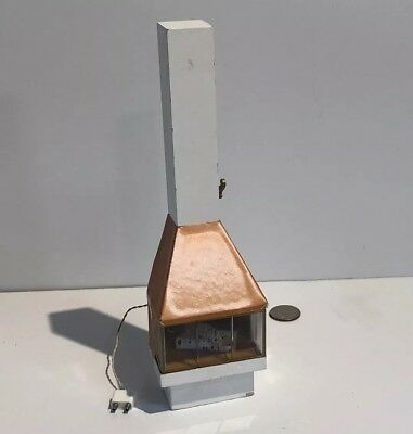 Lundby Dollhouse Fireplace Mid Century Copper Electric Electric