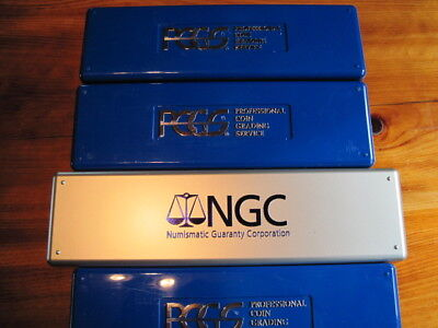 4 Storage Boxes for Graded Slabs 3 PCGS & 1 NGC