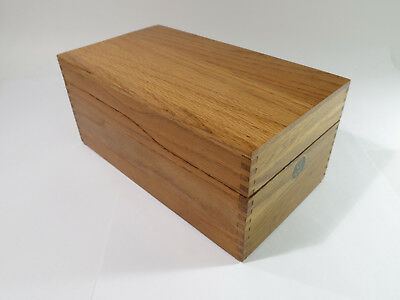 "Vintage 1940s Solid Oak ""Globe-Wernicke"" Peerless Tray Index Card File Box"