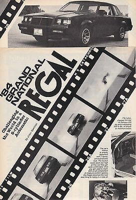 1984 Buick Regal GRAND NATIONAL, Informative USA Car Magazine Performance Test