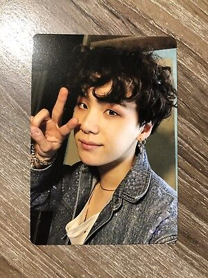 Bts Official Suga Yoongi Photo Card Light Stick Army Bomb Ver.3