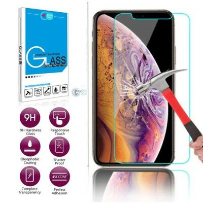 9H Scratch Resist Tempered Glass Screen Protector for iphone XS MAX XR 8 7 6S 5