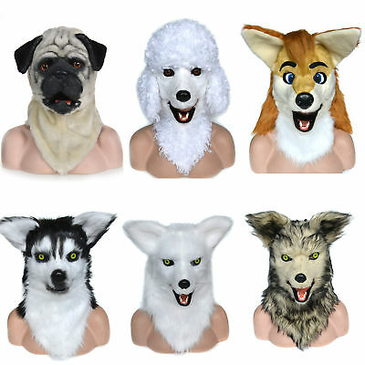 Christmas Animated Animal Masks Moving Mouth Cosplay Costume Props Wearing Party