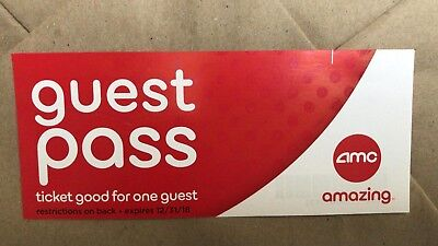 MULTIPLE AVAILABLE AMC Theatre Movie Tickets / GUEST PASSES IMAX 3D