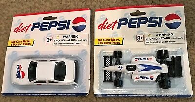 2 Golden Wheel Die Cast Cars Diet Pepsi NIP