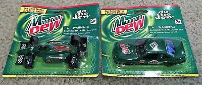 2 Golden Wheel Die Cast Cars Mountain Dew NIP