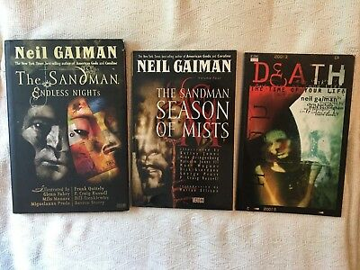 Neil Gaiman The Sandman Death Book Lot Endless Nights Season Of Mists