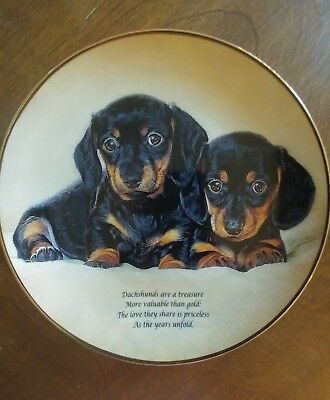 Love They Share, Cherished Dachshunds  Collectors Plate