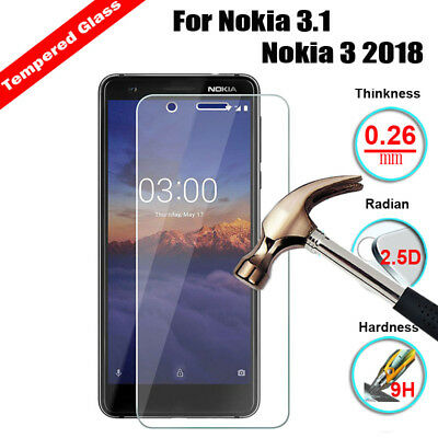 Tempered Glass For Nokia 2.1,3.1,5.1,6.1,7 X5 X6 2018  Phone Screen Protector