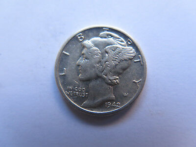 1942 S USA MERCURY SILVER DIME in EXCELLENT COLLECTABLE CONDITION