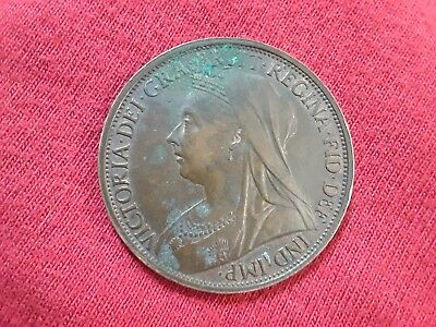 1896 Great Britain One Penny Foreign Coin