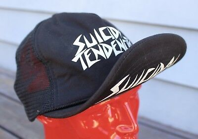 Vintage Suicidal Tendencies Black Mesh Trucker Hat Headmaster Metal Thrash OG