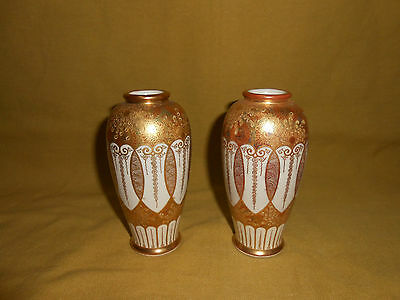 Satsuma Japanese Pair Of Vases
