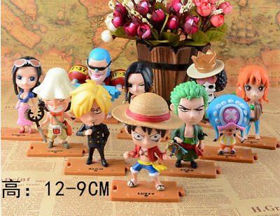 One Piece 10PCS Set The straw hat Pirates 9-12cm Character Doll New No Box