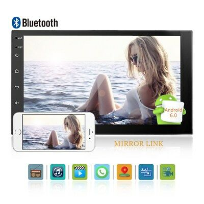 """Android Car Multimedia Player 7"""" 2Din Universal WIFI BT Touch Screen Mirror Link"""