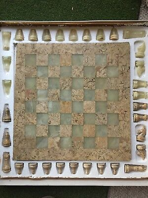 """chess set marble 16"""""""