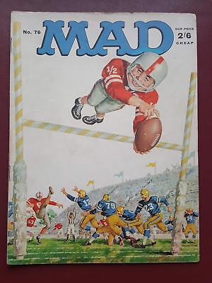 Mad Magazine No.76 - UK Edition - American Football #B3204