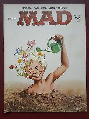 Mad Magazine No.92 - UK Edition - Autumn Crop Issue #B3195