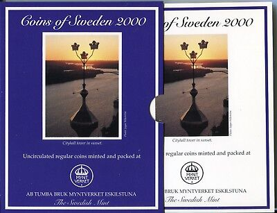 "Schweden , Coins of Sweden 2000 ,""Cityhall tower in sunset"" (16651)"