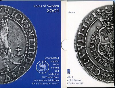 "Schweden , Coins of Sweden 2001 , ""Erik XIV.King of Sweden""  (16652)"